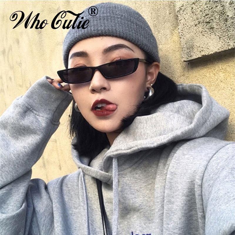 Fashion Black Sunglasses Rectangular Designer Frame