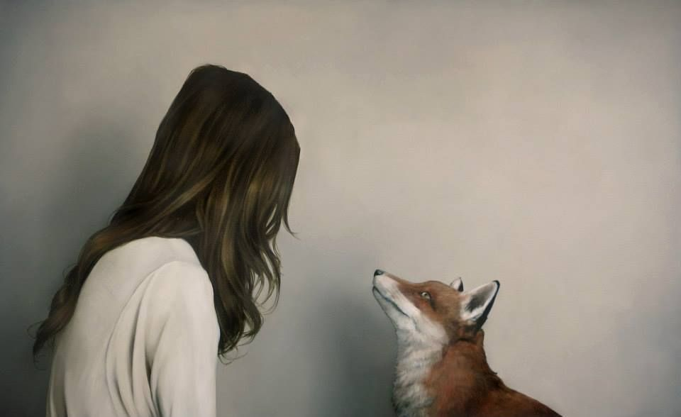 Amy Judd, a London based artist, takes her inspiration from the enchanting, imaginative relationship between women and animals found in traditional mythologies and stories