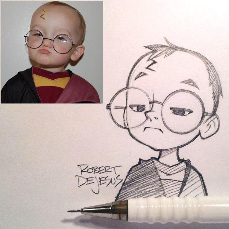 Anime Characters From Real People By Robert De Jesus Cartoon Character Design Photo To Cartoon Portrait Cartoon