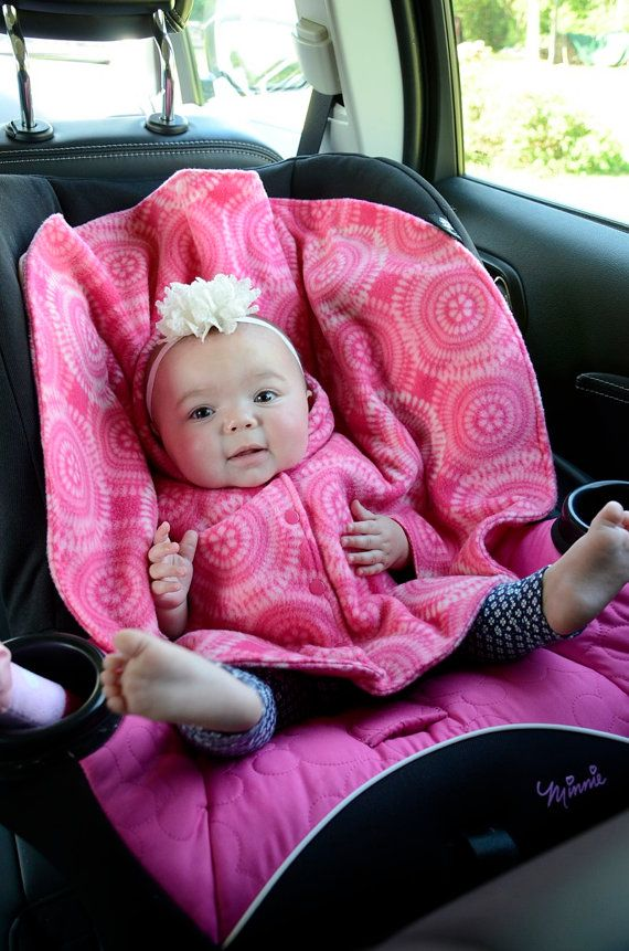 Car Seat Poncho Baby Wearing Poncho Fleece Carseat Poncho Size 12 Months Babywearing Pink Christmas Gift Fo Car Seat Poncho Car Seats Toddler Poncho