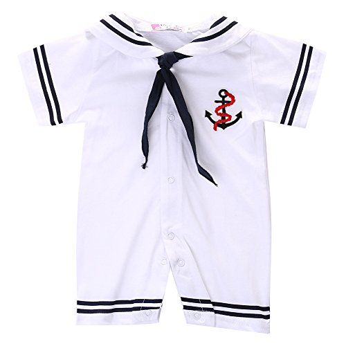 acc6a517f MaBaby Baby Boy Infant Anchor Sailor Romper Playsuit Baby Grows ...