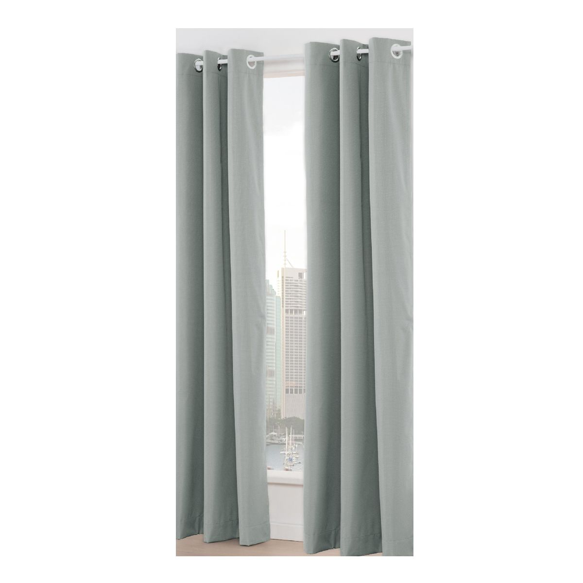 Paris Eyelet Curtain Silver Look Kmart Silver Curtains Curtains Functional Jewelry