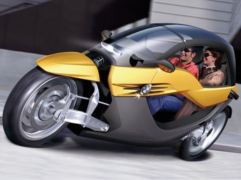 BMW iCAR - BEST LOOKING THREE WHEELER - FULLY TILTING AND A