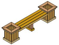 Deck Planter And Bench Deck Planter Boxes Planter Box Plans Deck Planters