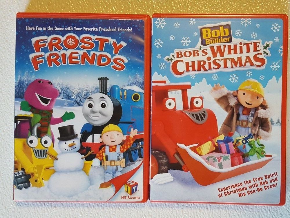dvd lot 2 dvds frosty friends bob the builder bobs white