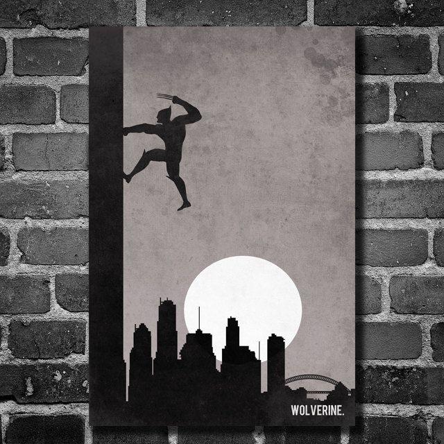 X Men Wolverine retro poster minimalist art movie poster print art ...