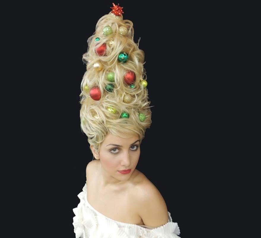 Holiday Hair Ideas Inspired By Our Favourite Celebrities Christmas Tree Hair Holiday Hairstyles Hair Day