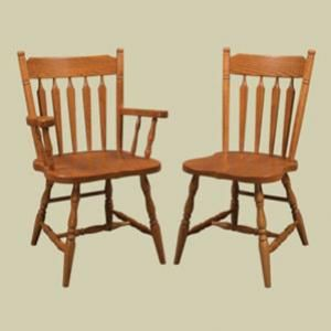 Amish Heritage Colonial Acorn Arrow Back Windsor Side Chair