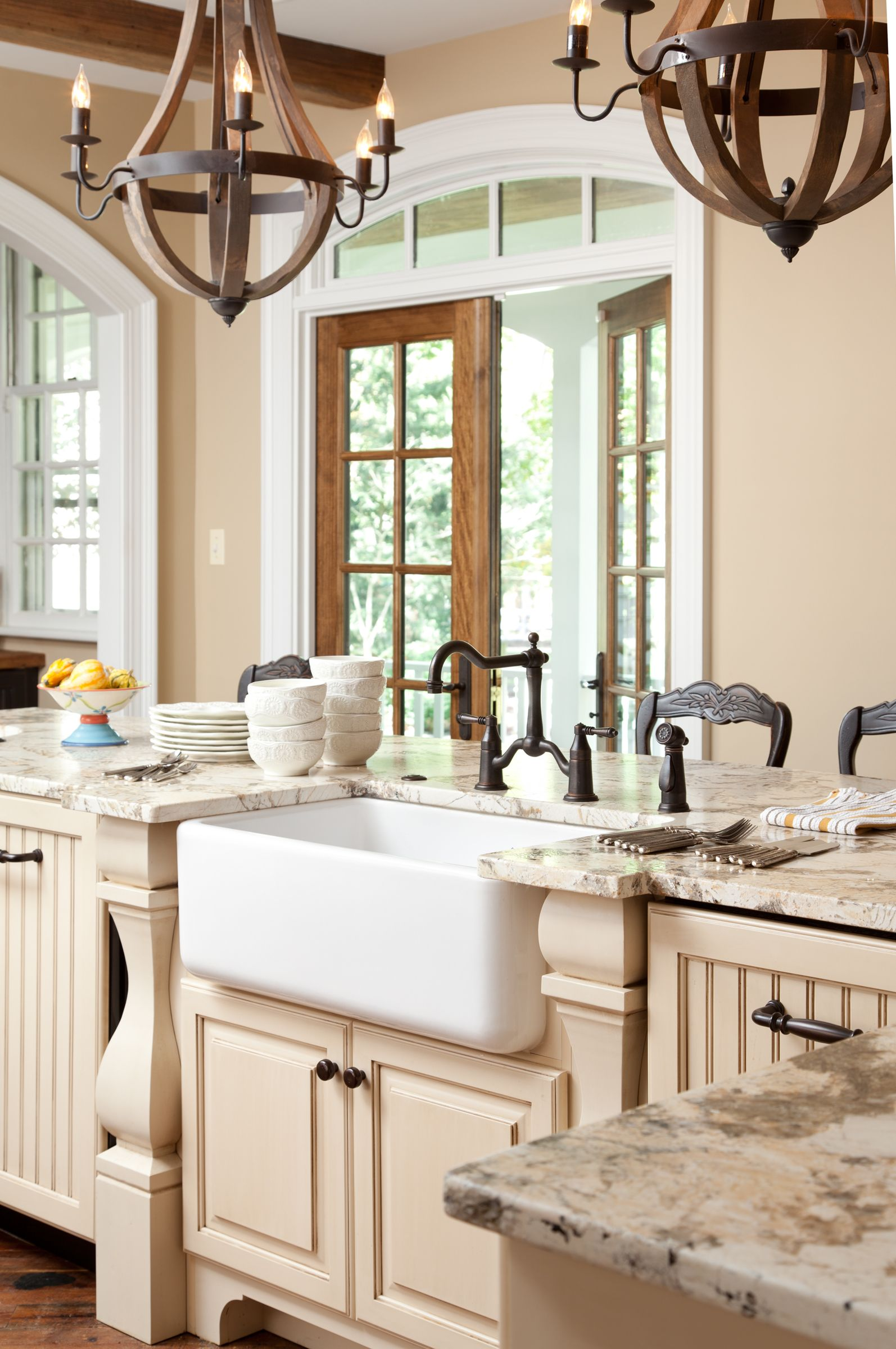 Kitchen with multiple finishes.