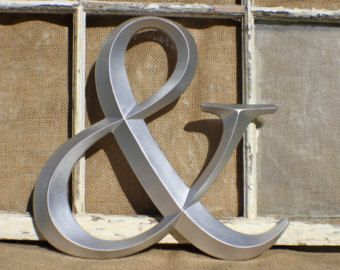 Ampersand Wall Decor ampersand/ wall decor/ sign letter/ silver ampersand/ wedding and