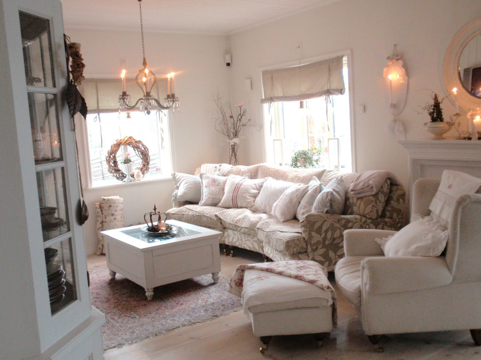 Living Room Whitewashed Chippy Shabby Chic French Country