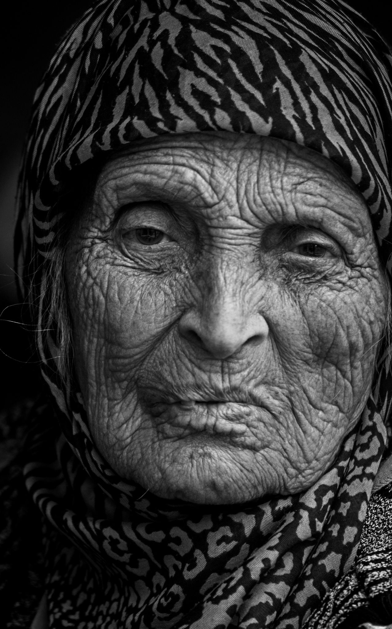 Black and white face portraits old faces life is hard unique faces