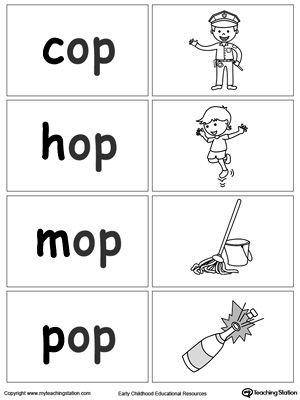 Word Sort Game Op Words Word Sorts Word Family Worksheets Word Families