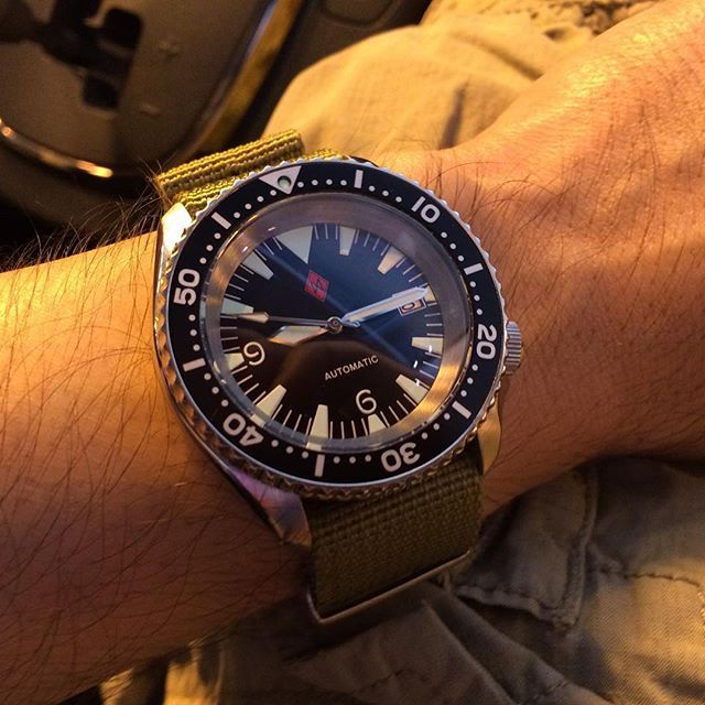 SKX007 big triangle Seamaster 300 mod with Dagaz dial hands and