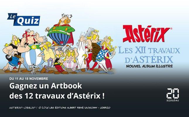 Gagnez un Artbook des 12 Travaux d'Astérix
