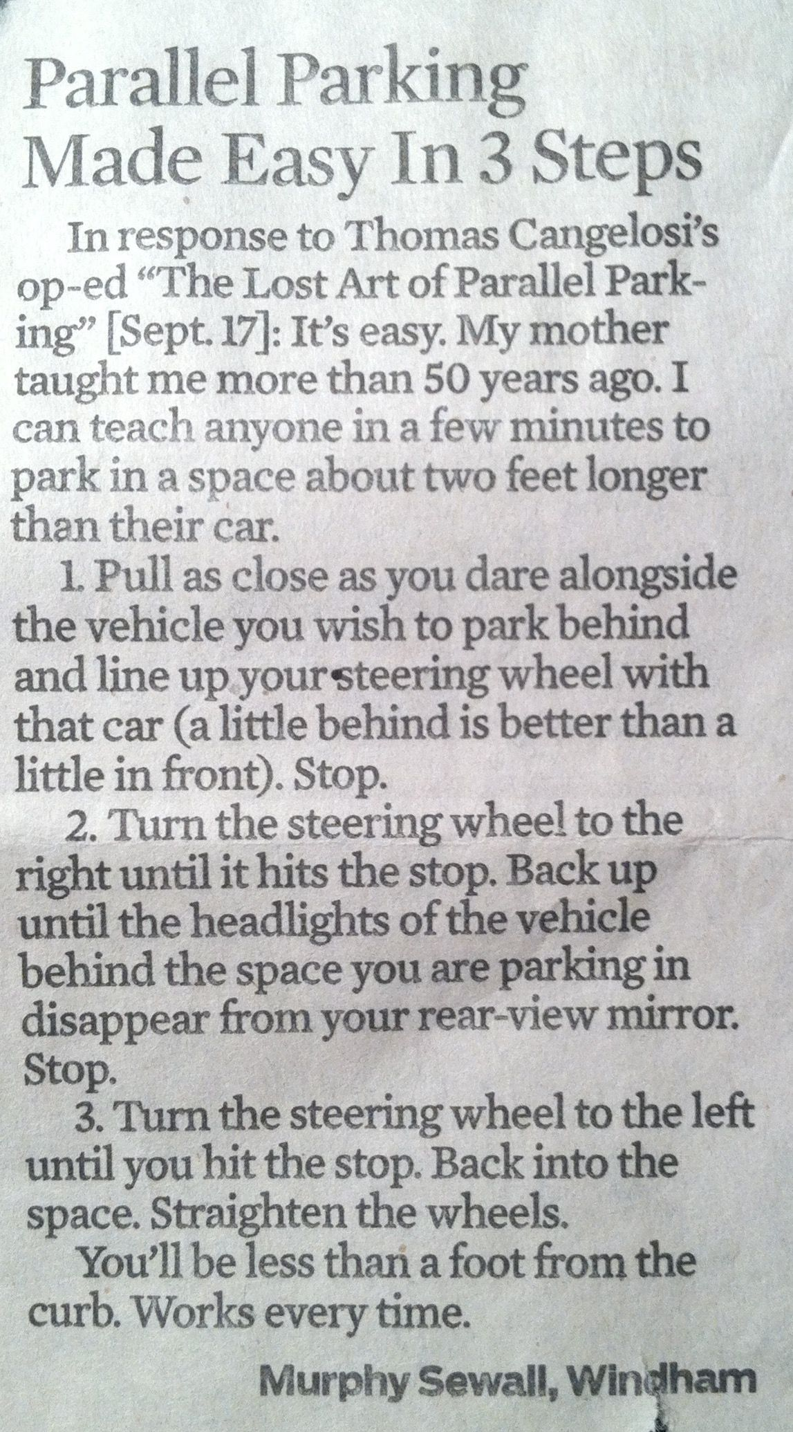 Parallel Parking Made Easy In 3 Steps Drive In Pinterest Park