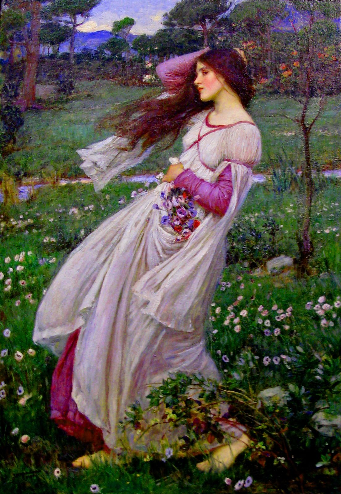 Pittura Preraffaellita Inglese John William Waterhouse 1903 Windflowers Preraffaelliti Arte