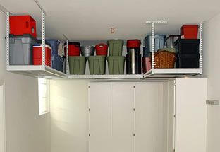Attractive Garage Makeover Tips And Home Remodel Renovation Ideas Overhead Storage