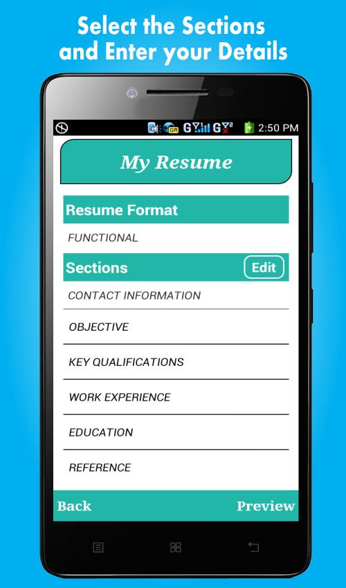 App Free Resume Builder Cv Maker Free Online Resume Builder
