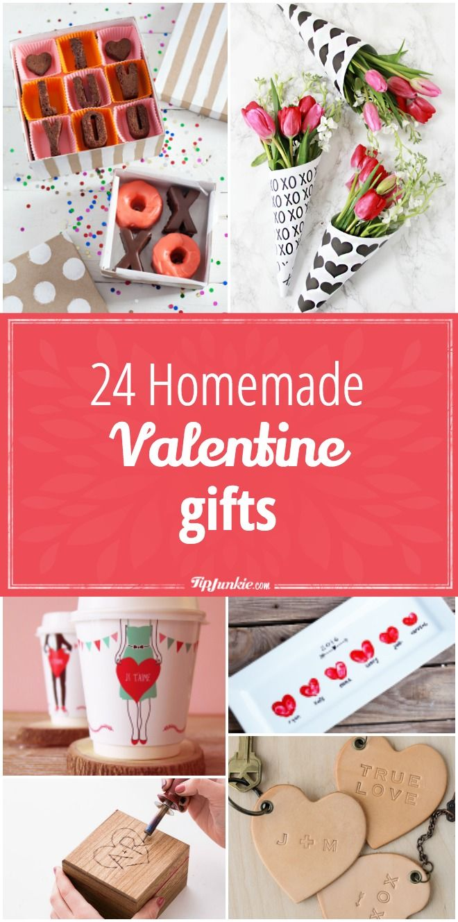 24 Homemade Valentine Gifts Homemade Gift Ideas Valentine Gifts