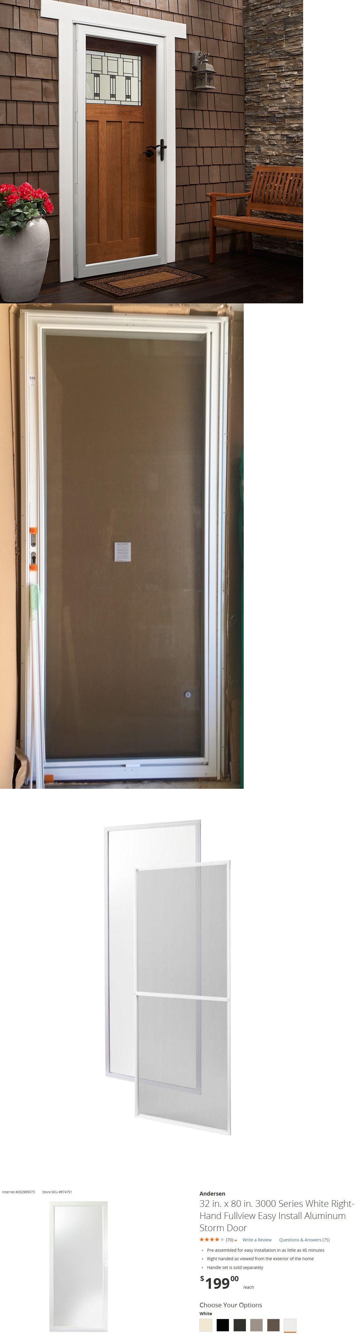 Doors 85892 Andersen 3000 Right Fullview Easy Install Aluminum