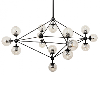The Modo Chandelier is inspired by offtheshelf parts