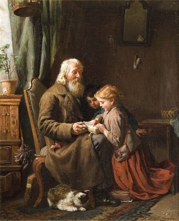 """Besuch beim grobvater"". Felix Schlesinger"