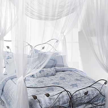 Majesty White Large Bed Canopy From Bath Beyond