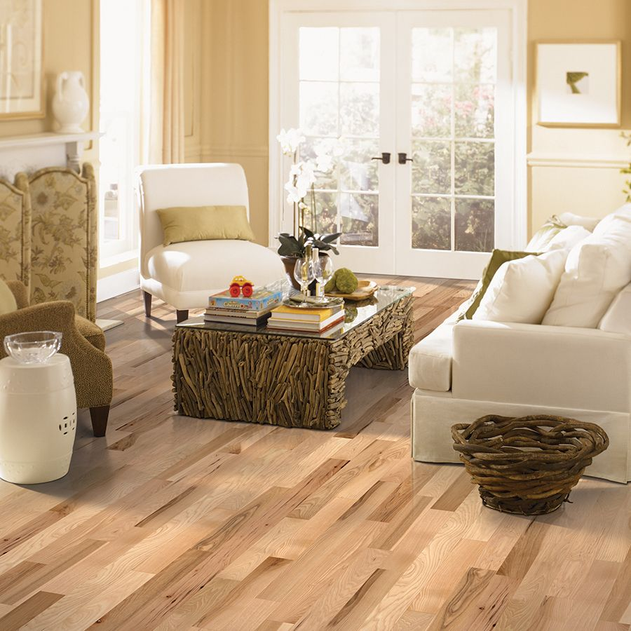 Shop Allen Roth 325 In W Prefinished Hickory Hardwood Flooring Country Natural