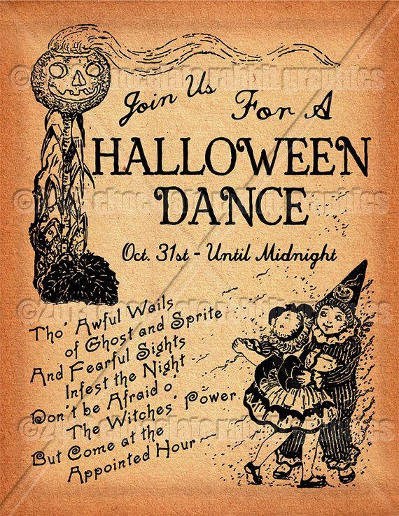 Feuille de Collage Vintage Halloween Party Clip Art Collage imprimable Scrapbook images