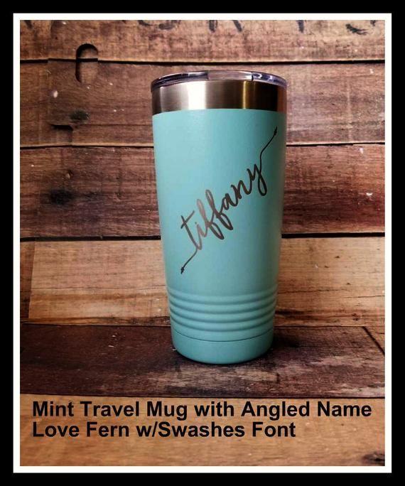 Travel Mug, Personalized Coffee Mug, Monogrammed, Custom ...