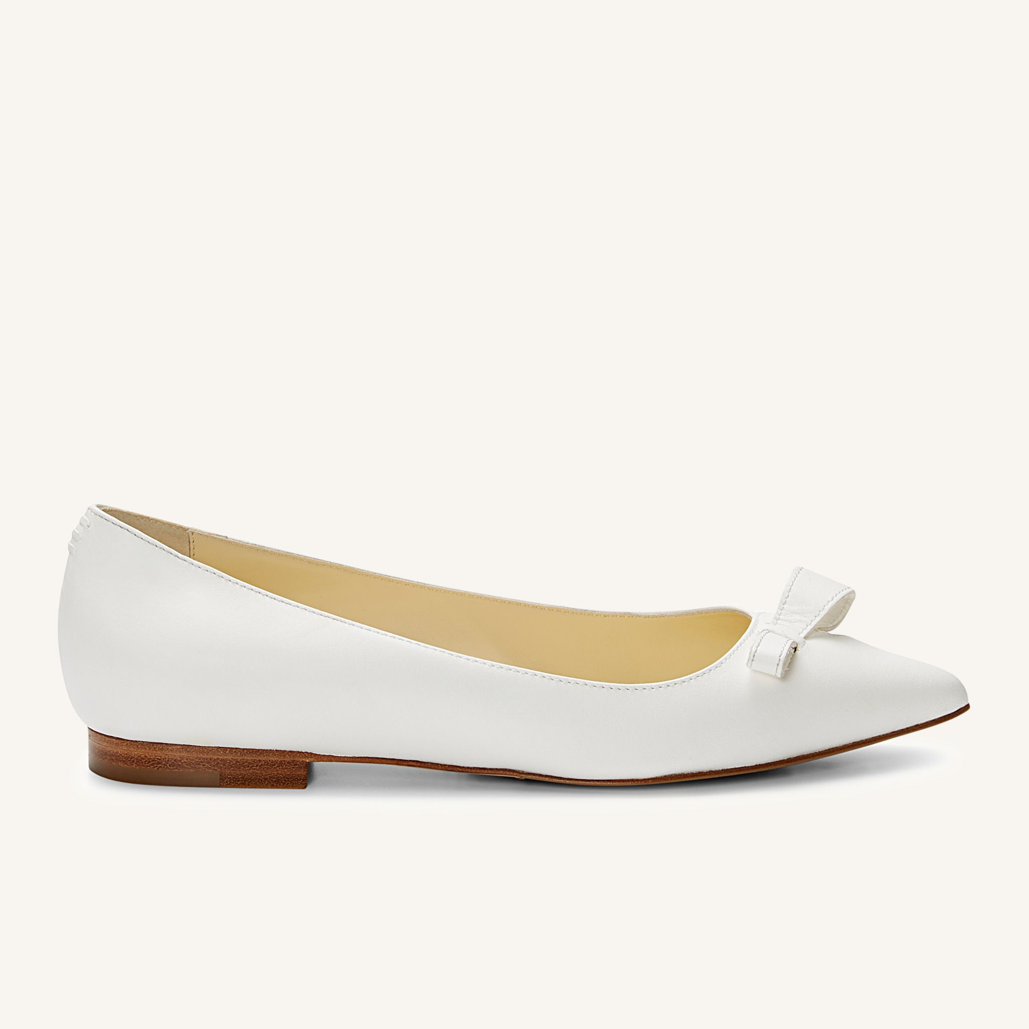 Elegant White Leather Flats in 2020