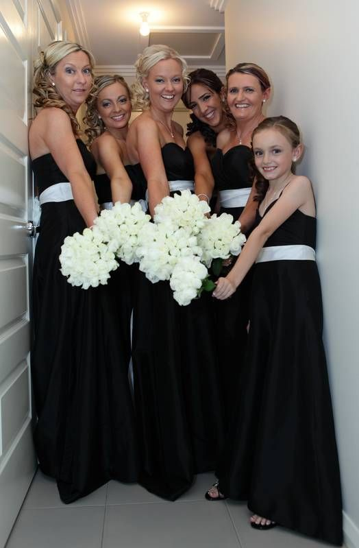 Black And White Bridesmaid Dress