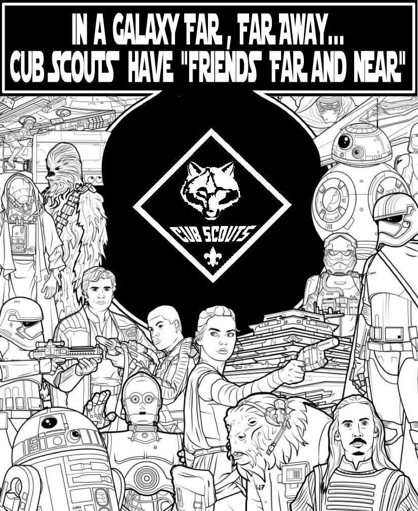 Cub Scout Coloring Pages Star Wars * As A Theme For 2016 Cub Scout Blue & Gold Banquet