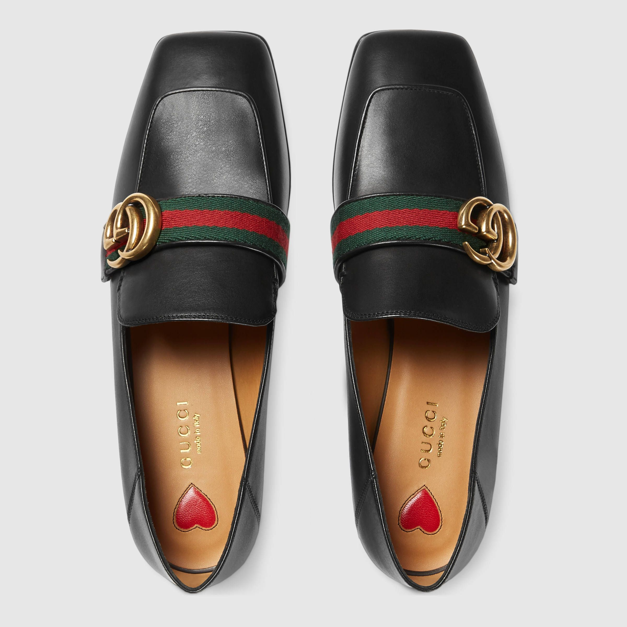 Gucci Leather Double G loafer $795