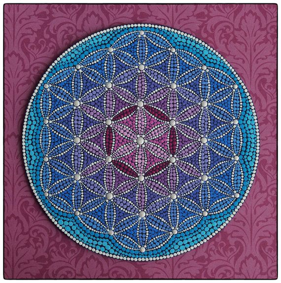original mandala painting heart expansion flower of life mandalasflor de