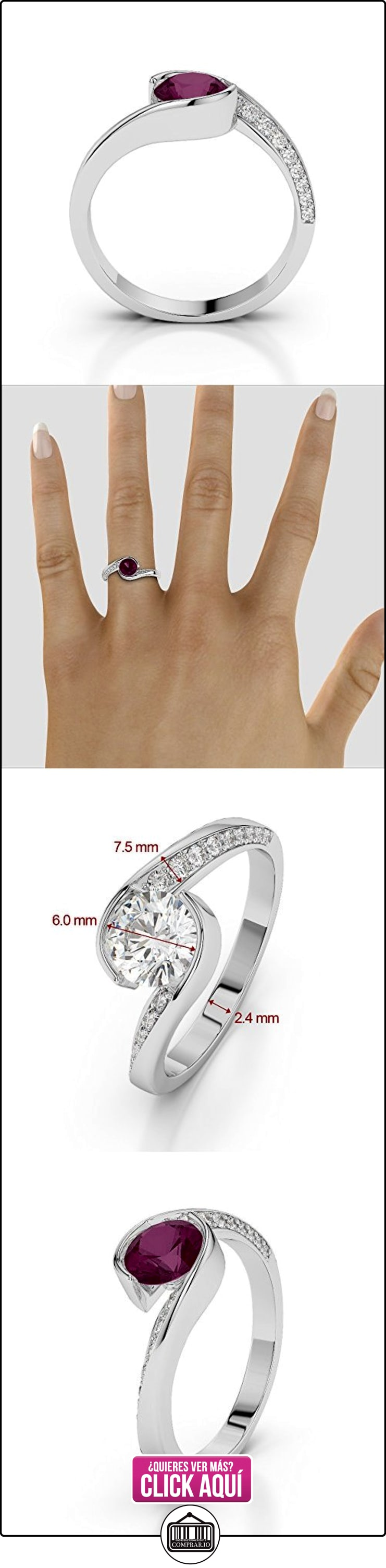 AG & Sons Hombre  950 Platino  platino redondo Round Brilliant   rojo GH diamante rubí FINERING  ✿ Joyas para hombres especiales - lujo ✿ ▬► Ver oferta: https://comprar.io/goto/B01HTH2E96