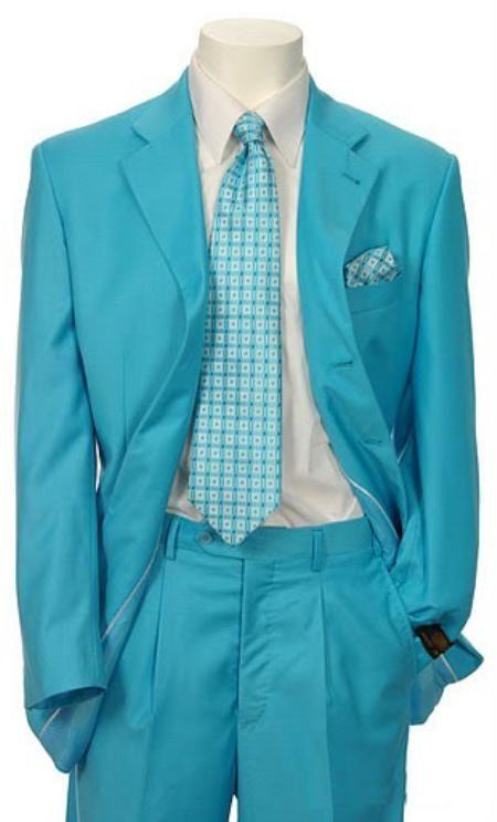 Men's Multi-Colored Suit Collection Turquoise . Mens 3 button suit ...