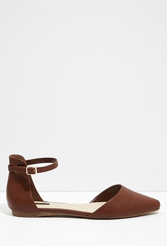 Pointed Ankle-Strap Flats   Forever 21 - 2000076534