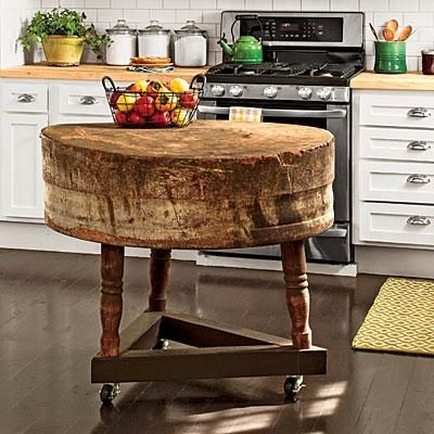 an antique butcher block provides additional workspace in the kitchen which is not large the smartest cottage we u0027ve ever seen   butcher blocks tripod and      rh   pinterest com