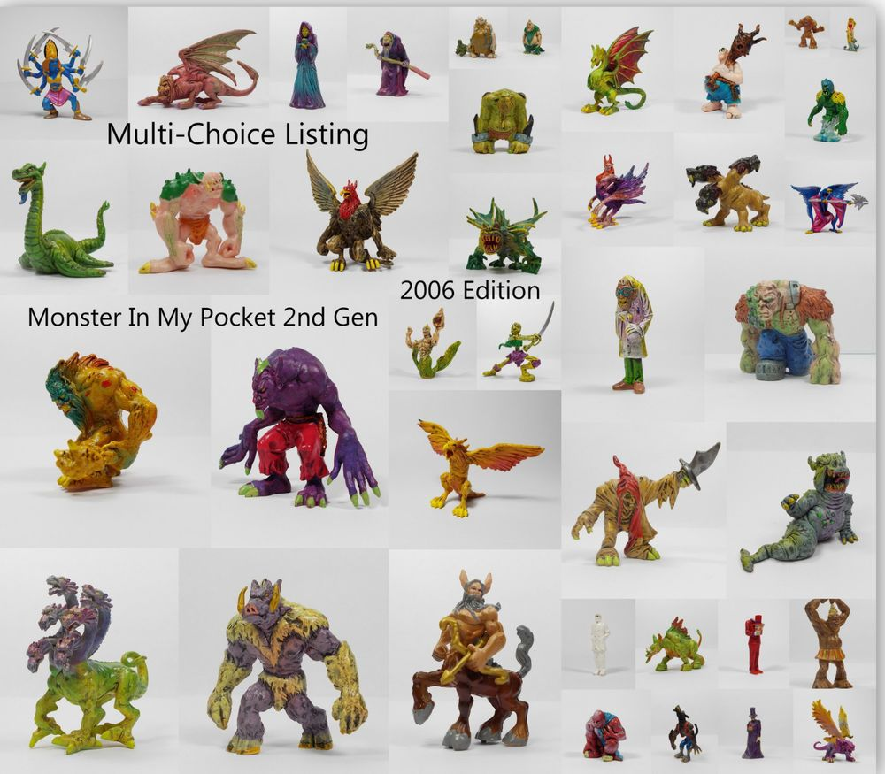 Monster In My Pocket - 2nd Gen. 2006 - M.I.M.P. MEG - Mini Toy Figures