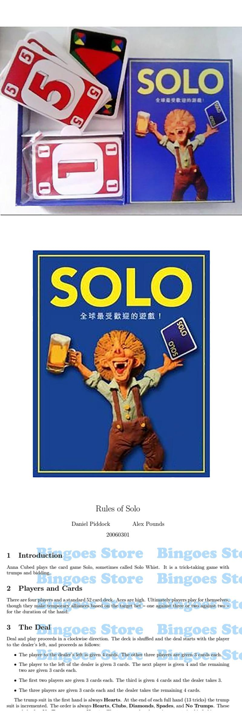 Visit to Buy] SOLO Cards Game 2 10 Players Board Game Funny Game