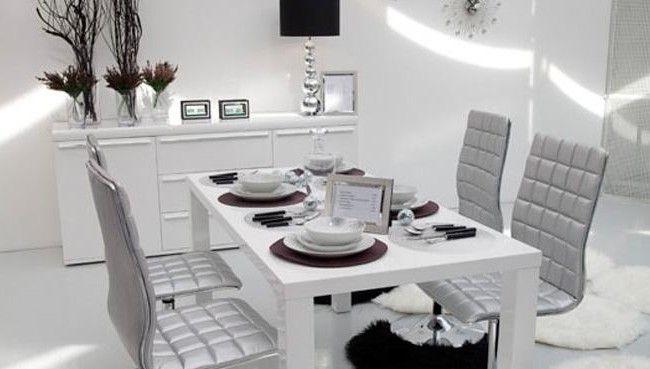 Deco Salon Noir Blanc Argente