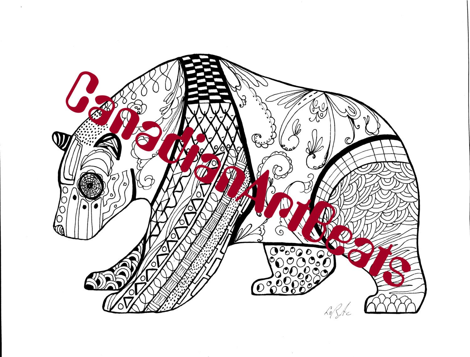 Downloadable Loon and baby Zentangle inspired Coloring Page by ...