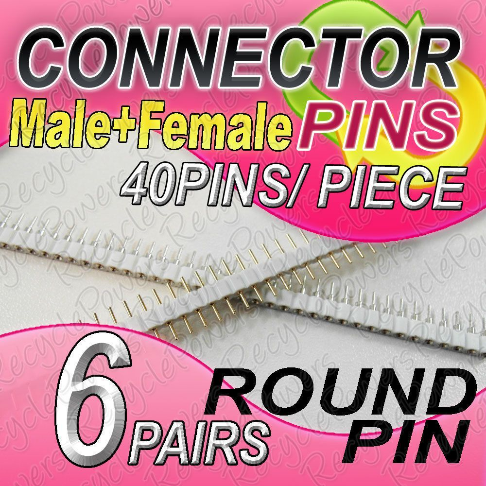 Price Us 6 03 Connector Pin 40 Pins Round Pin Male Female