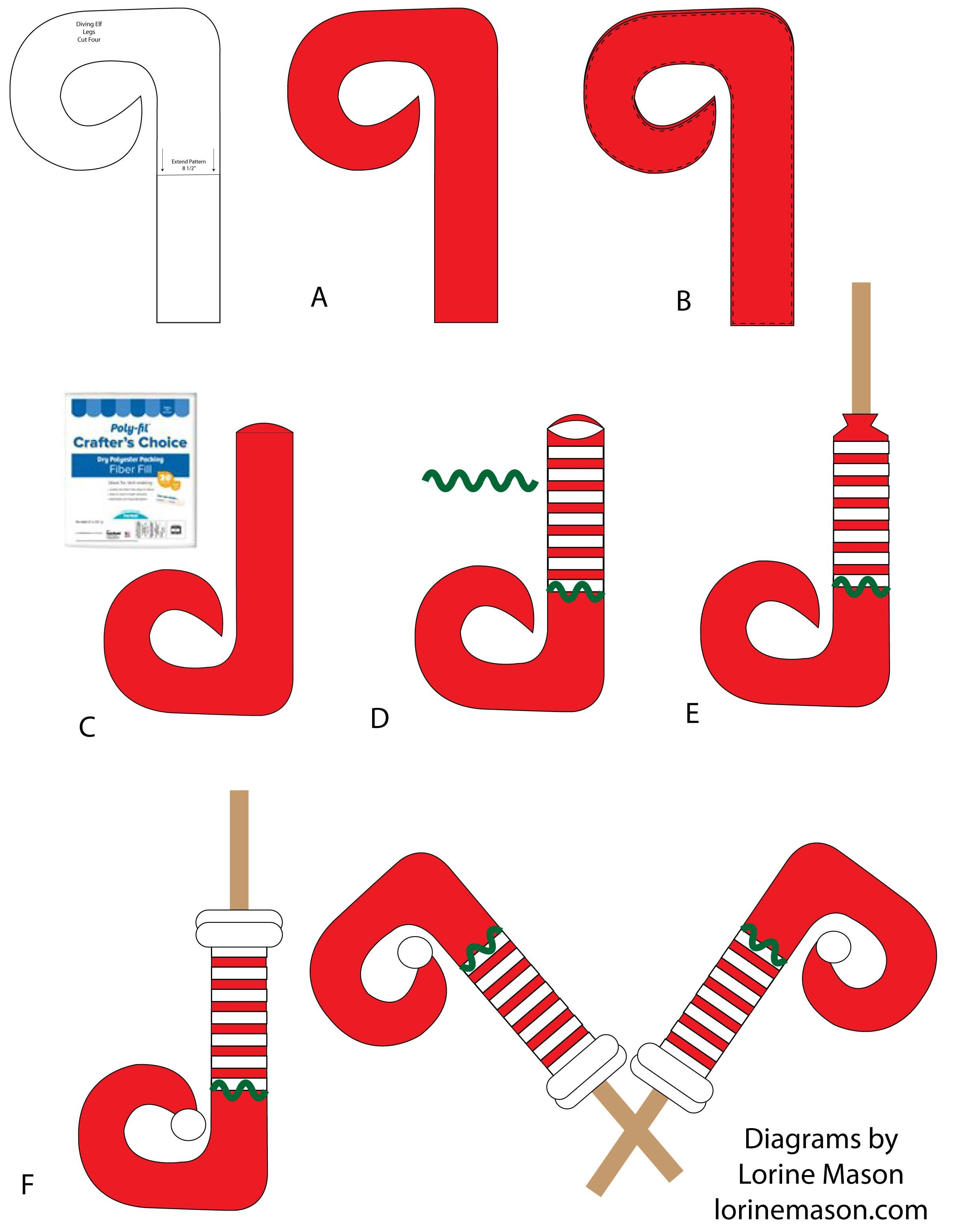 Free Pattern for Diving Elf Legs christmas Pinterest