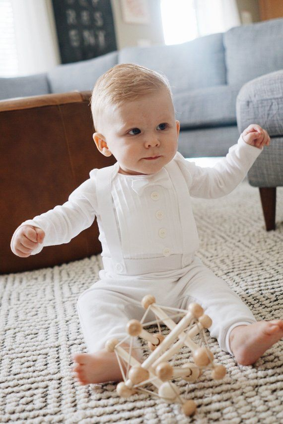 3583d65d9 Baby Boy Blessing, Christening, Baptism, Wedding Outfit, Tuxedo ...