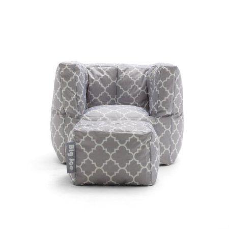 Best Big Joe Cube W Ottoman Black Quatrafoil Bean Bag Chair 400 x 300