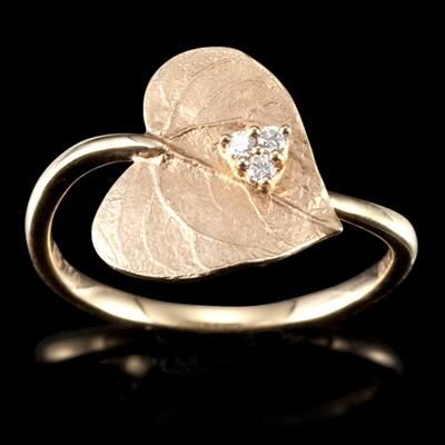 Gold leaf ring. That is nifty!