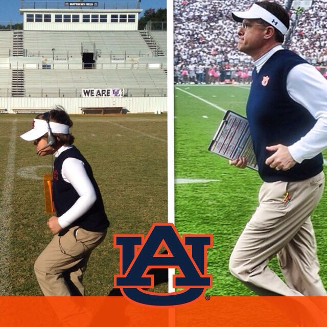 Levin having fun as Coach Gus Malzahn on Halloween